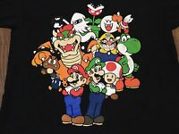 Super Mario Luigi Large Characters T Shirt Bowser Toad Classic Video Game