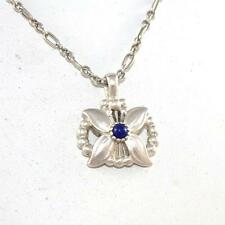 """Georg Jensen Sterling Silver Pendant of the Year 1998 Lapis Necklace 17"""" LQ44-G"""