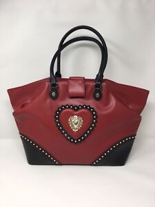 LOVE MOSCHINO Red & Black Winged Tote Bag - £260