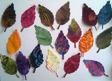 Batik Aspen Leaves fabric scrap Pack remnants patchwork bundle 100% cotton