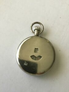 VINTAGE 1930s JUMP HOUR working  CHROMED POCKET WATCH (Swiss movement)