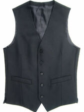 Button Wool Patternless Waistcoats for Men