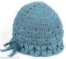 CUTE COTTON baby  pink girls HATS X2 beanie 6-12 months 1yr crochet effect