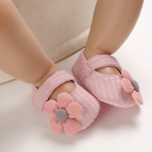 Newborn Baby Girl Flower Princess Anti-slip Crib Shoes Soft Sole Sneakers Shoes