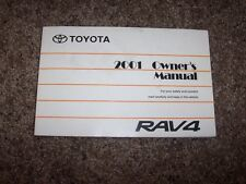2001 Toyota RAV4 2.0L 4Cyl Operator User Guide Owner Owner's Manual