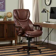 Serta Executive Chair Bonded Leather Seat Brown Commercial Home Office Furniture