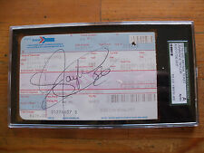 LAWRENCE TAYLOR AUTOGRAPHED AMTRAK TICKET 12-16-97 SGC AUTHENTICATED 1 OF A KIND