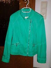 Gerry Weber Garment Dyed modische Jacke Blazer Kurzblazer Bikerlook Gr. 42 grün