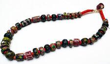Ancien Collier Perles Pâte de verre de Venise coloré Inde du Nord 19e