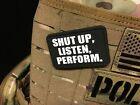 Patch Klett - Shut up Listen and Perform - 7cm x 4,5cm   Klett Aufnäher