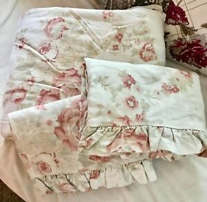 VHTF RALPH LAUREN HEARTLAND FLORAL 3PC FULL/QUEEN DUVET & EURO SHAM SET