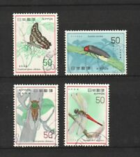 JAPAN 1977 NATURE CONSERVATION SERIES NO. 4 (INSECTS) COMP. SET OF 4 STAMPS USED