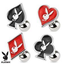 Piercing cartilage Playboy cards