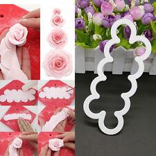 Silicone  3D Rose Flower Sugarcraft Cake Decorating Fondant DIY Tools Mold Mould