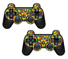 2x Lego Ladrillos Playstation 3 (Ps3) Controlador pegatina / Skin / 3ps2