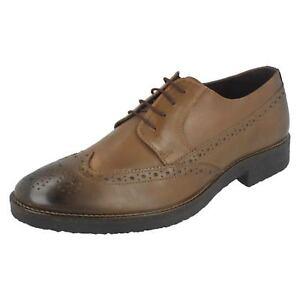 Sale Herren Lambretta Brown Leather Brogue Stil Schnürschuh M-82
