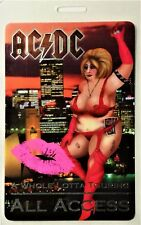 ** AC/DC ** - 2001 TOUR LAMINATED BACKSTAGE PASS - ALL ACCESS - reflective foil