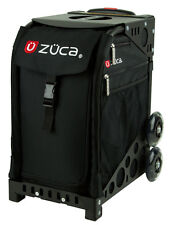 ZUCA Bag OBSIDIAN Insert & Black Frame w/Flashing Wheels - FREE SEAT CUSHION