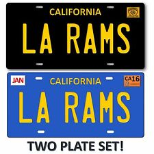 La Rams Los Angeles California 2 Lot Set NFL Football Team License Plate Tag