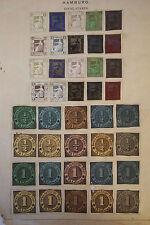GERMANY HAMBURG Locals Hamburg Boteninstitute 1861-65 Proofs