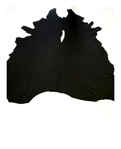 Black Leather Cow Hide Cowhide Soft Premium Quality Automotive/Home Upholstery