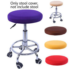 Hot Bar Stool Slipcover Dirtproof Round Chair Protector Stretchy Seat Cover Gear
