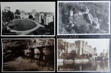 Warwickshire 4 x WARWICK CASTLE - Old RP Postcard by Walter Scott