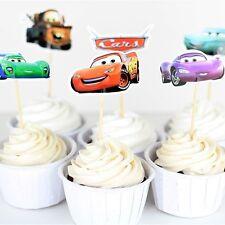 Disney Pixar Cars Cupcake Toppers/Food Picks Party Decorating Favor Set of 24