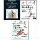 Concise Book of Trigger Points,Anatomy of Stretching 3 books collection set NEW