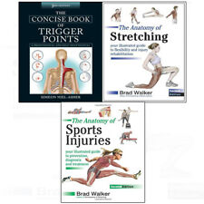 Concise Book of Trigger Points,Anatomy of Stretching,3 books collection set NEW