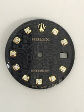 Rolex Men's Datejust Nonquickset Black Jubilee Diamond Dial 2-T