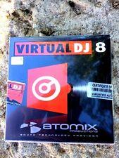 per pc  Windows disco installazione Atomix VIRTUAL DJ 8 nuovo sigillato Eng/Ita