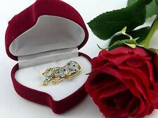 Anhänger Brosche Wildkatze pendant brooch wildcat Brillant diamond 0,60 Gold 750