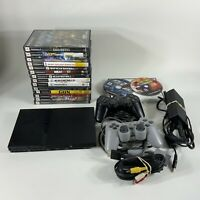 Playstation PS2 Slim SCPH-77001 Game Console Game Lot Bundle (AS IS) UNTESTED