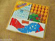 Bingo Tombola Loto Lotto Games Set Cage Cards Balls Board - Plastic Travel 5206