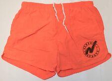 Vintage 1980's/90's Newport Sports Neon Peach/Orange Swim Shorts Size MED/LARGE