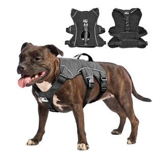 No Pull Reflective Medium Large Dog Vest Harness with Lift Handle Bulldog Boxer
