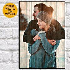 Anniversary Gift For Girlfriend Custom Birthday Gift For Her For Him Wood Photo
