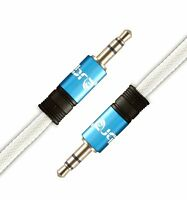 IBRA® 10M 3.5mm to 3.5 mm Male Jack Audio IPOD AUX MP3 Gold Cable - Blue