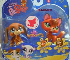 ✿LITTLEST PET SHOP✿FUCHS FOX #807 & HUND BASSETT DOG #808 ✿NEU & OVP ✿RAR SELTEN