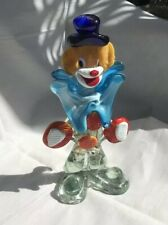 "1970s VINTAGE MURANO, GLASS CLOWN, 8""1/2 High"