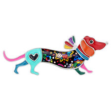 Enamel Alloy Dachshund Dog Brooches Pin For Women Kid Scarf Fashion Jewelry Gift