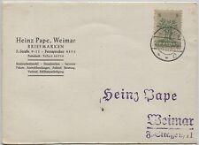 "Lokalausgaben Apolda 1 II auf ""Pape""-Karte (B06001)"