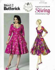 Butterick Sewing Pattern 6412, EASY Gertie Sweetheart Dress Full Skirt 6-22 NEW
