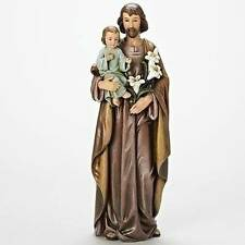 18 in ST. JOSEPH and CHILD JESUS Beautiful Detailed Statue INDOOR GARDEN STATUE