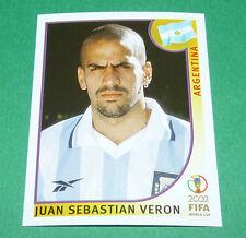 N°395 VERON ARGENTINA PANINI FOOTBALL JAPAN KOREA 2002 COUPE MONDE FIFA