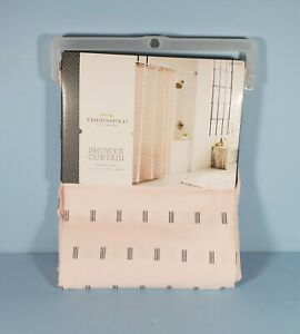 "Threshold Pink & Black Print Shower Curtain 72"" x 72"" Target NEW"