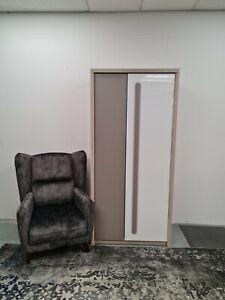 2 DOOR LARGE WARDROBE/CUPBOARD. White Gloss/Grey Mat/ELM. ROM1.ROMA.BRAND NEW
