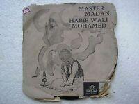 MASTER MADAN HABIB WALI MOHAMED GHAZAL URDU rare EP RECORD 45 INDIA 1967 VG