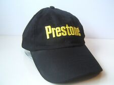 Prestone Spell Out Hat Black Snapback Baseball Cap w/ Yellow Lettering